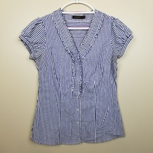 The Limited Essential Shirt blue/white striped